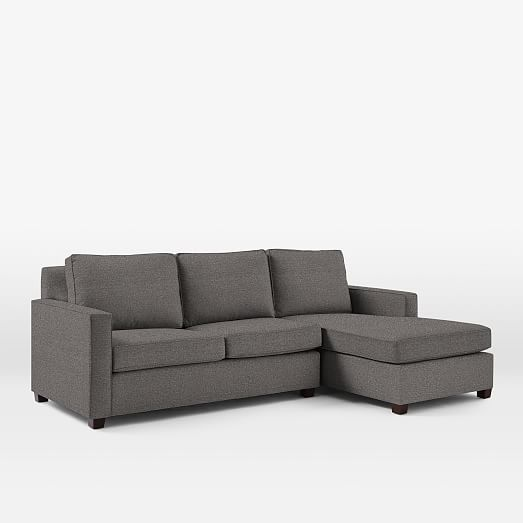 Stunning 2 Arm Chaise Lounge Henry 2 Piece Chaise Sectional West Elm
