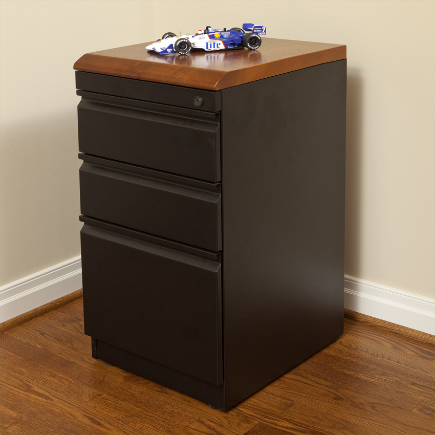 Stunning 3 Drawer Wood File Cabinet With Lock Box Box File With Premium Wood Top Caretta Workspace