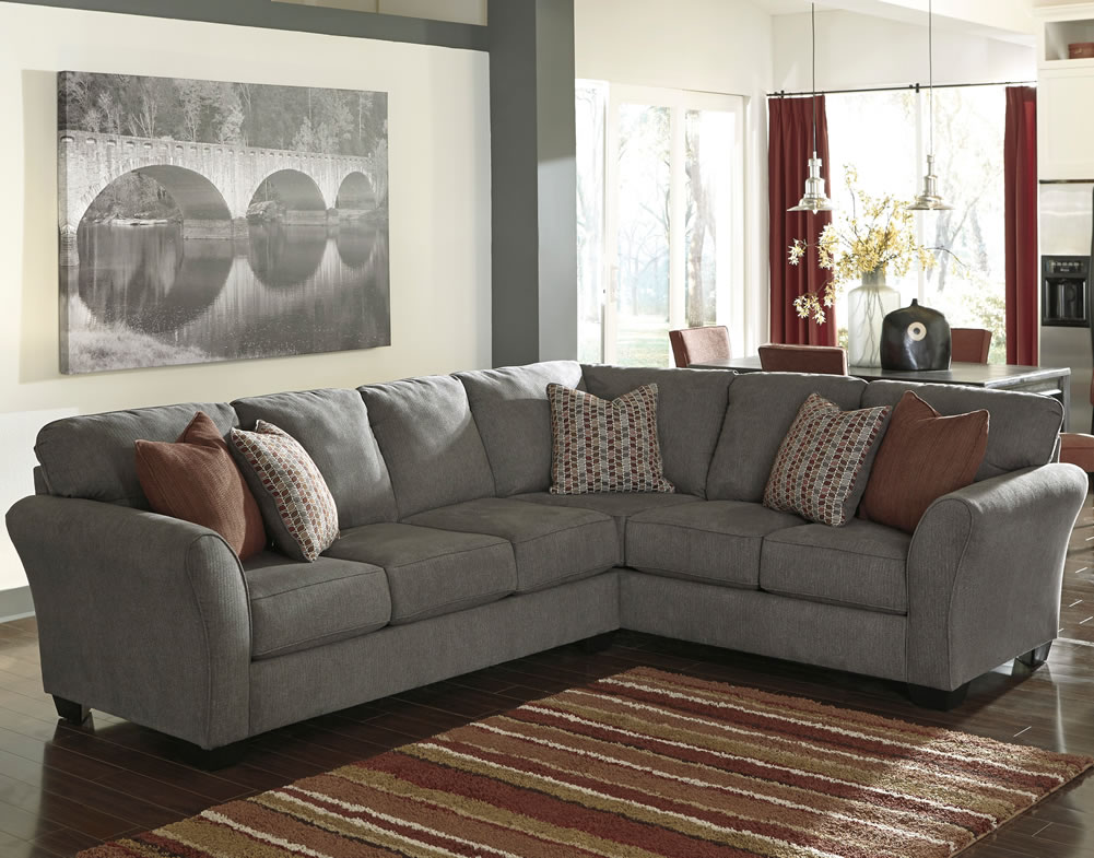 Stunning Ashley Furniture L Couch Sectional Sofa Design Comfort Detachable Pieces Gray Sectional
