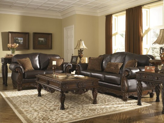 Stunning Ashley Leather Sofa Set North Shore Sofa Set Ashley Furniture La Furniture Center
