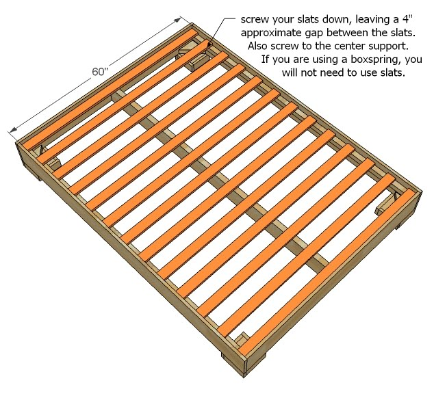 Stunning Bed Frame And Slats Slats For Bed Frame Ana White Much More Than A Chunky Leg Bed