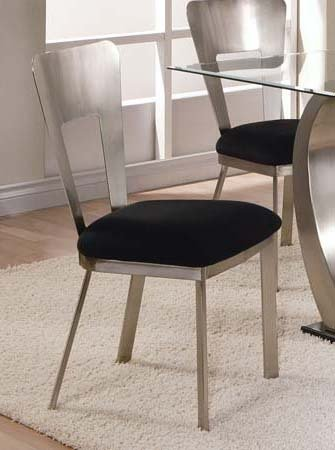 Stunning Black Dining Chairs With Upholstered Seats Set Of 2 Metal Dining Chairs With Black Upholstered Seat In Chrome