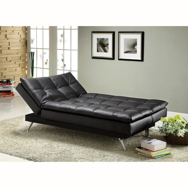 Stunning Black Leather Futon Couch Shop Furniture Of America Stabler Comfortable Black Futon Sofa Bed