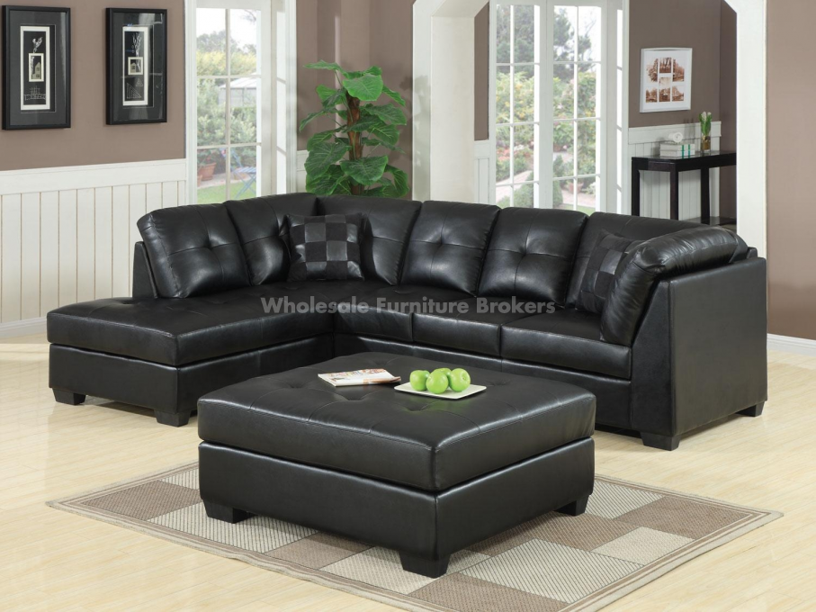 Stunning Black Sectional Sofa With Chaise Black Sectional Sofas Alluring Black Leather Sectional Sofa Home