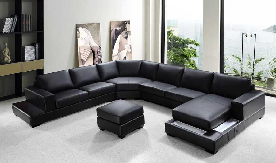 Stunning Black Sectional Sofa With Chaise Vg Rz Modern Black Sectional Sofa Sectionals