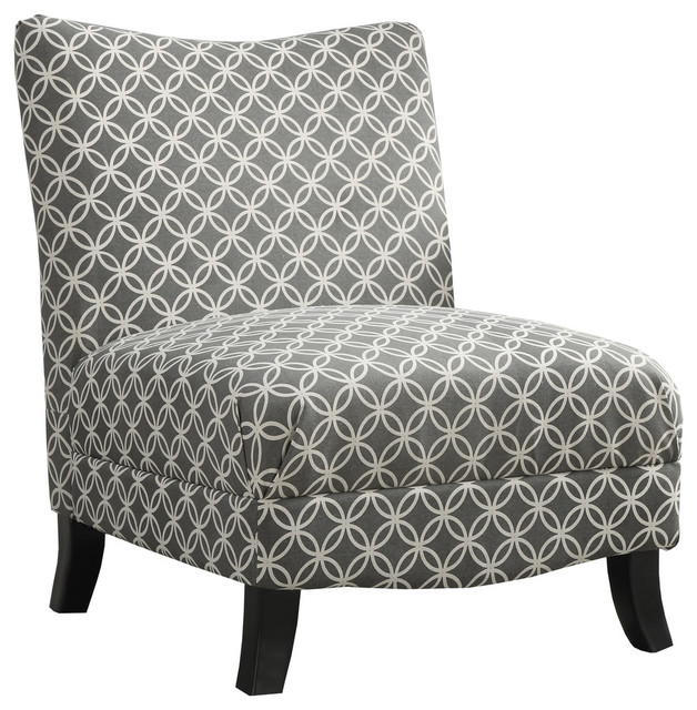Stunning Black White Accent Chair Traditional Style Black Beige Abstract Fabric Chair Home