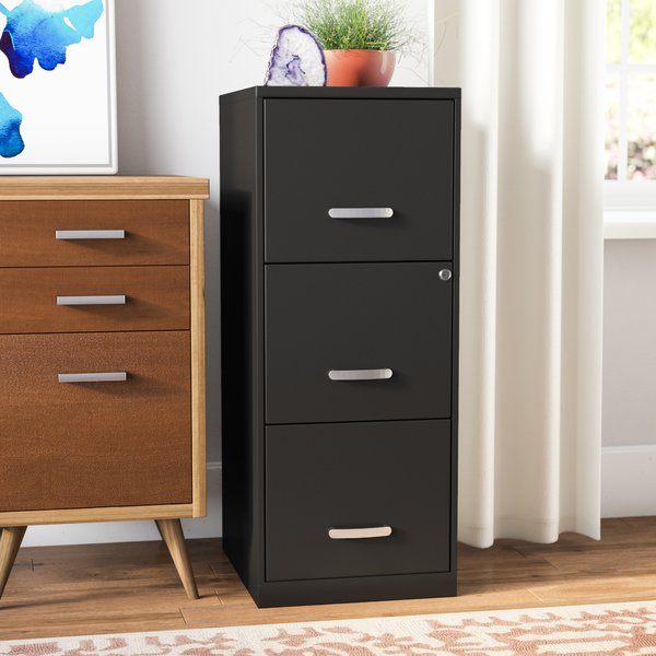 Stunning Black Wood File Cabinet With Lock Locking Filing Cabinets Youll Love Wayfair