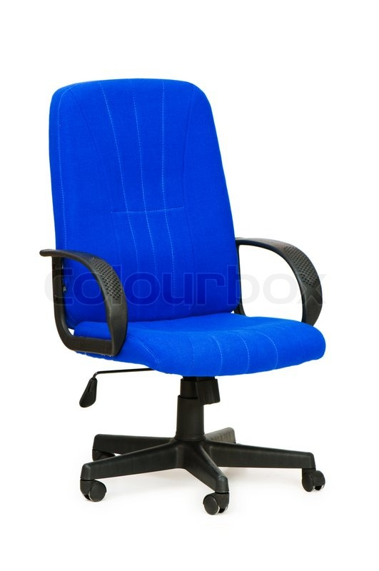 Stunning Blue Office Chair Blue Office Chair Isolated On The White Stock Photo Colourbox