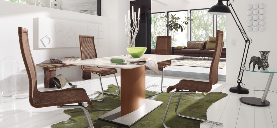 Stunning Brown And White Dining Chairs Dining Room Adorable Modern Wood Dining Set With 6 Upholstered