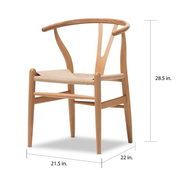 Stunning Brown Wood Dining Chairs Baxton Studio Brown Wood Dining Chair With Hemp Seat Free