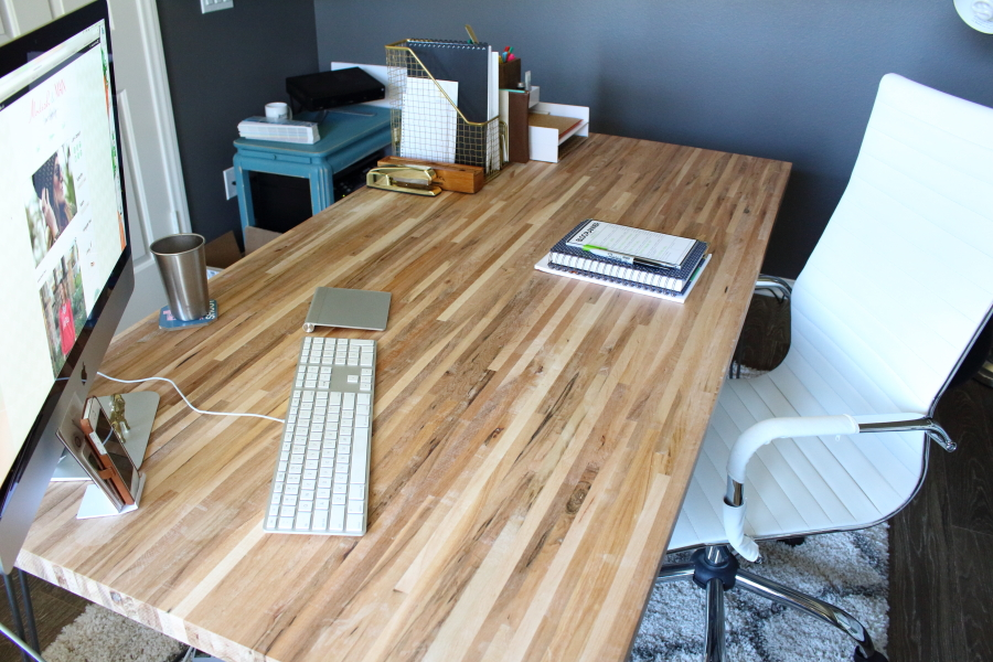 Stunning Butcher Block Desk Diy Butcher Block Desk Modish Main