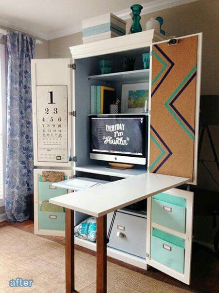 Stunning Computer Cabinet Desk Best 25 Hideaway Computer Desk Ideas On Pinterest Desk Under