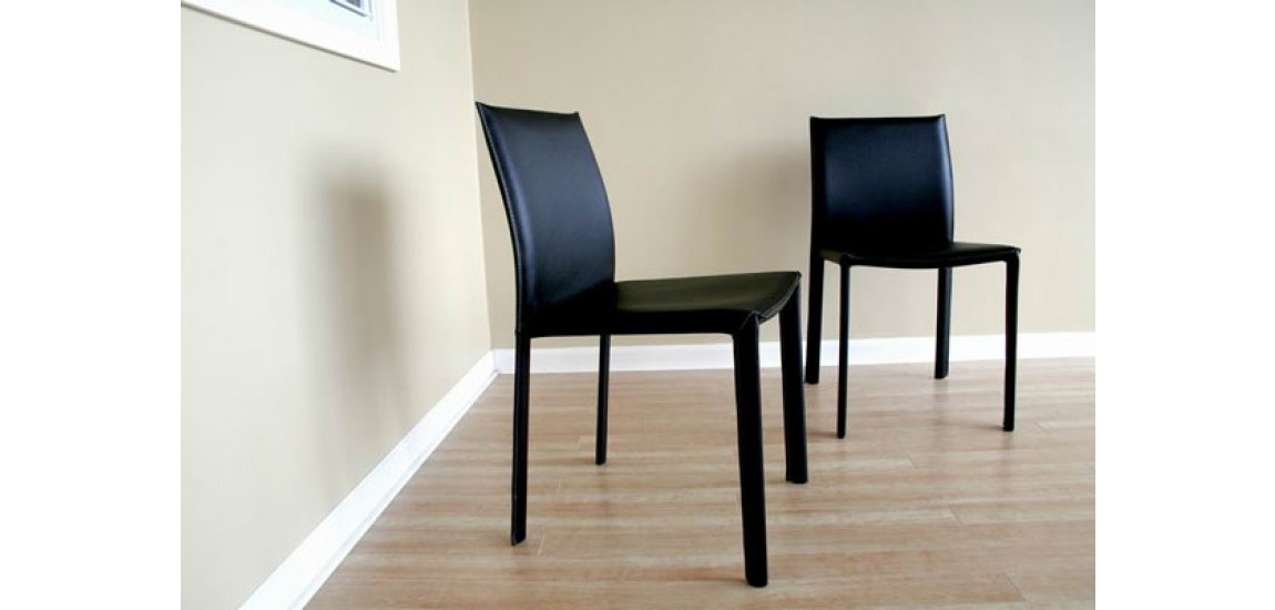 Stunning Contemporary Leather Dining Chairs Burridge Contemporary Black Leather Dining Chair