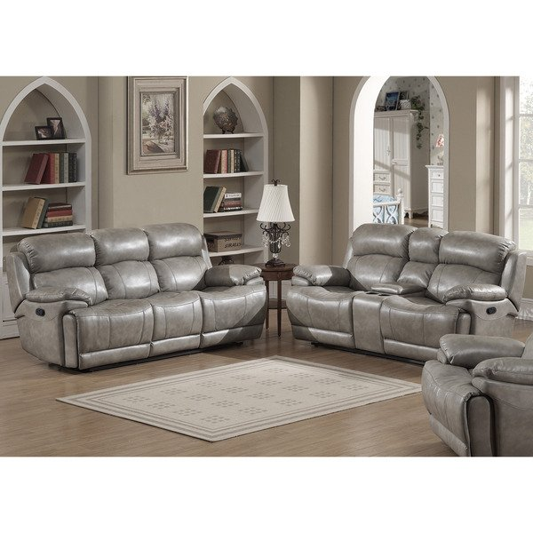 Stunning Contemporary Sofa And Loveseat Shop Estella Contemporary Sofa And Loveseat With Storage Console 2