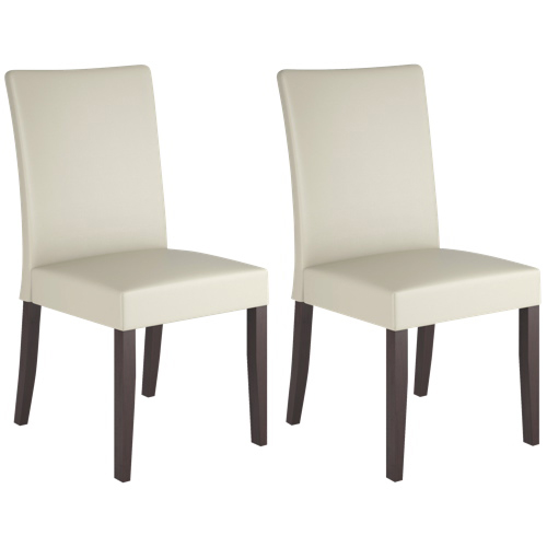 Stunning Cream Dining Chairs Atwood Transitional Dining Chair Set Of 2 Rich Cappuccino