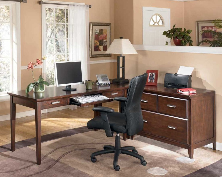 Stunning Dark Wood Desks For Home Office Home Office Modern Home Office Furniture Of Dark Brown L Shaped
