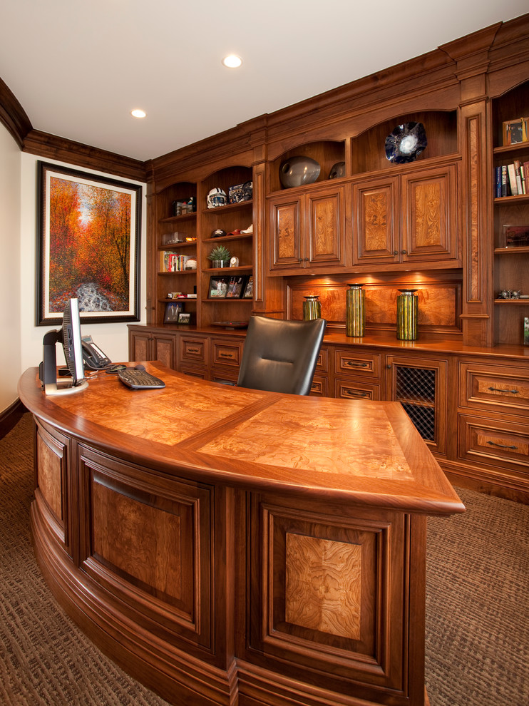 Stunning Dark Wood Desks For Home Office Shaped Credenza Desks With Dark Wood Cabinets Home Office