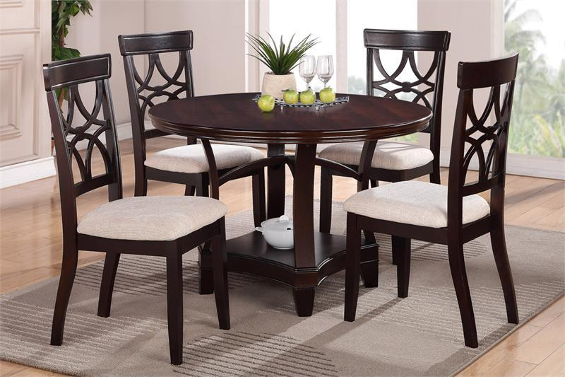 Stunning Dark Wood Round Table Interesting Ideas Espresso Round Dining Table Inspiring Design