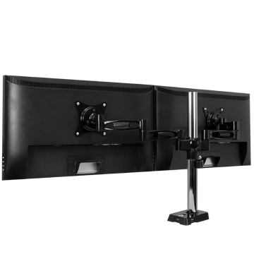 Stunning Desk For Monitors Z2 Flexible Monitor Arm For 2 Monitors With 4 Port Usb Hub Arctic