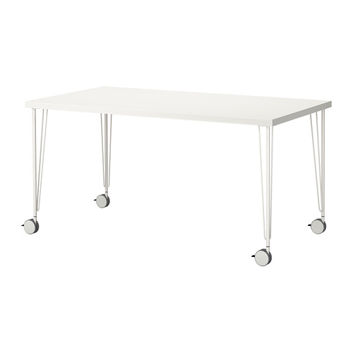 Stunning Desk On Wheels Ikea Krillelinnmon Table White 150x75 Cm Ikea