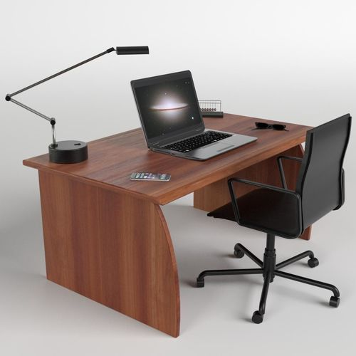 Stunning Desk With Chair 3d Asset Office Desk With Chair And Laptop Cgtrader