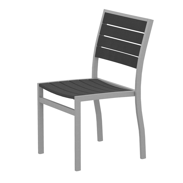 Stunning Dining Side Chairs Outdoor Euro Dining Side Chair Polywood Modern Aluminum Outdoor