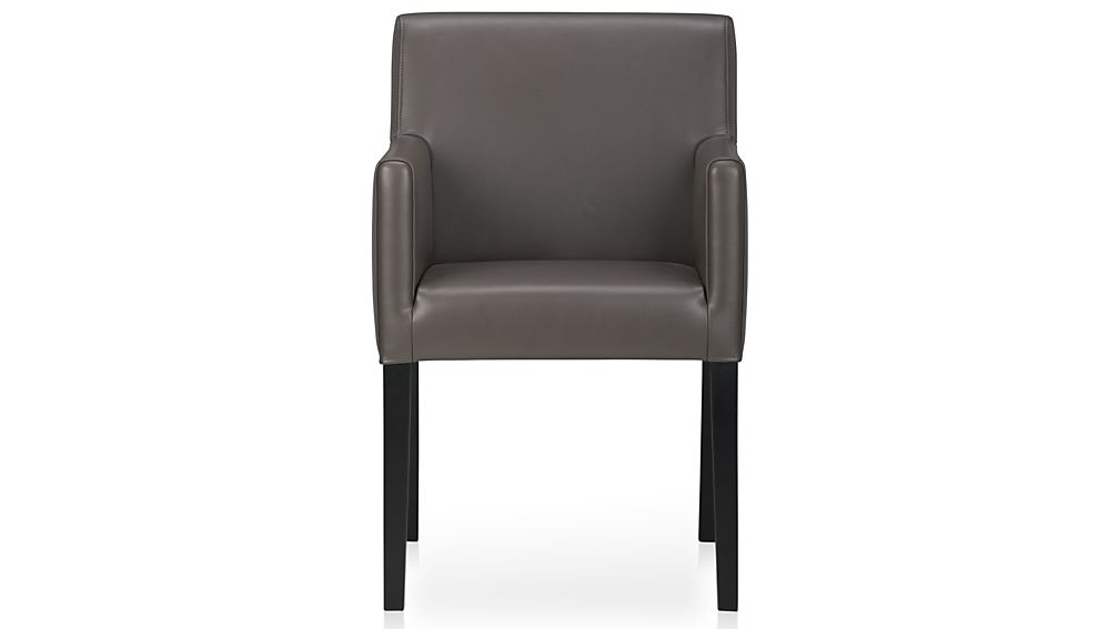 Stunning Dining Side Chairs With Arms Lowe Smoke Leather Dining Arm Chair Crate And Barrel