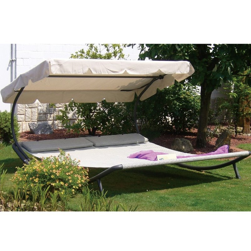 Stunning Double Chaise Lounge Outdoor Abba Patio Outdoor Portable Double Chaise Lounge With Sun Shade