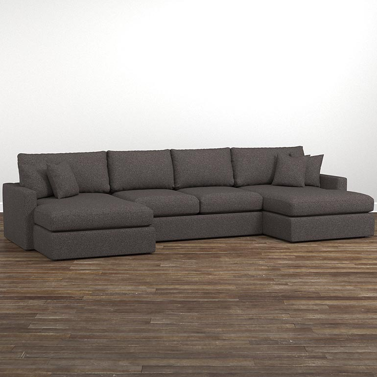 Stunning Double Chaise Lounge Sectional Sofa Allure Double Chaise Sectional