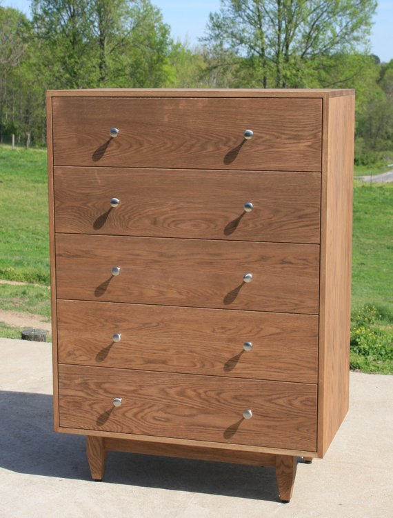 Stunning Dresser 52 Inches Wide X5510a Hardwood Chest Of 5 Drawers Or Dresser Inset Drawers Etsy