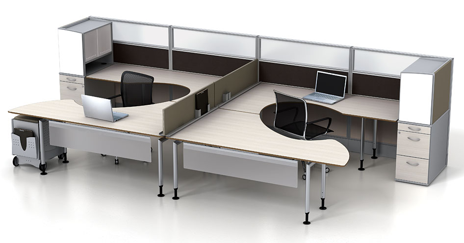Stunning Dual Station Desk Modular Office Furniture Watson Fusion Dual Worksttion