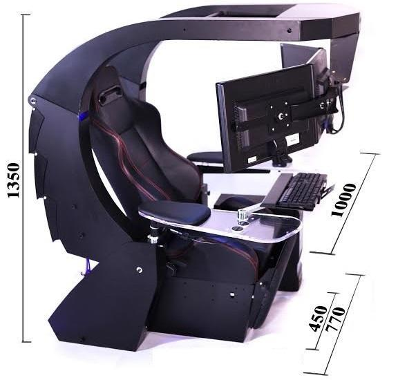 Stunning Ergonomic Computer Station J20 Gaming Computer Workstation High Ground Gaming
