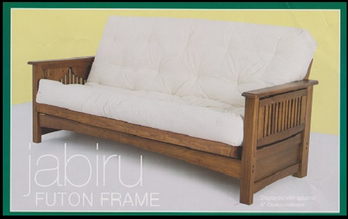 Stunning Futon Sofa Frame Only Jabiru Solid Timber Futon Sofa Bed Lounge Vintage Oak Double Bed