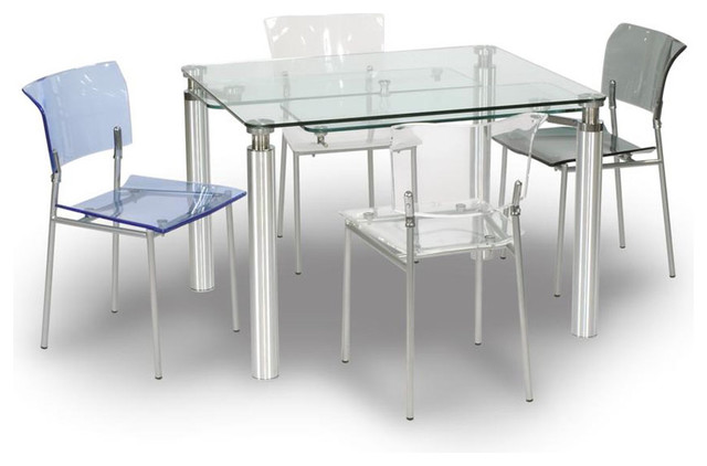 Stunning Glass Extendable Dining Table Set Extendable Glass Dining Table Freedom To