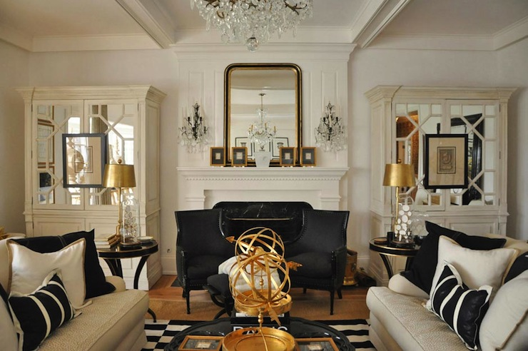 Stunning Gold Living Room Chairs Mirrored Armoire French Living Room Megan Winters