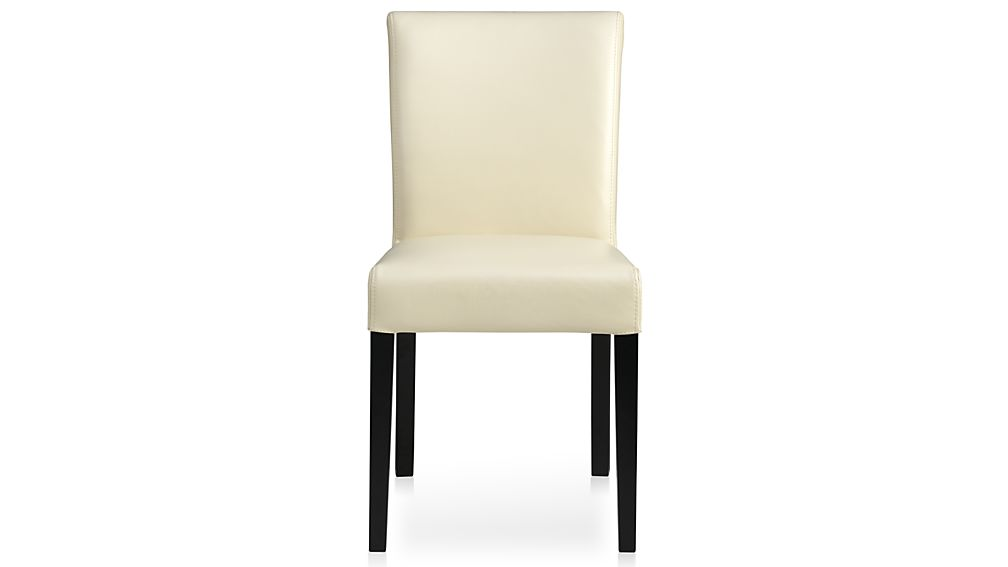 Stunning High Back Leather Dining Chairs Lowe Ivory Leather Dining Chair Crate And Barrel