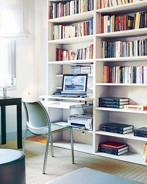 Stunning Home Office Desk With Shelves Bookshelves Romantic Bright Modern Thoughtful Home Office Storage