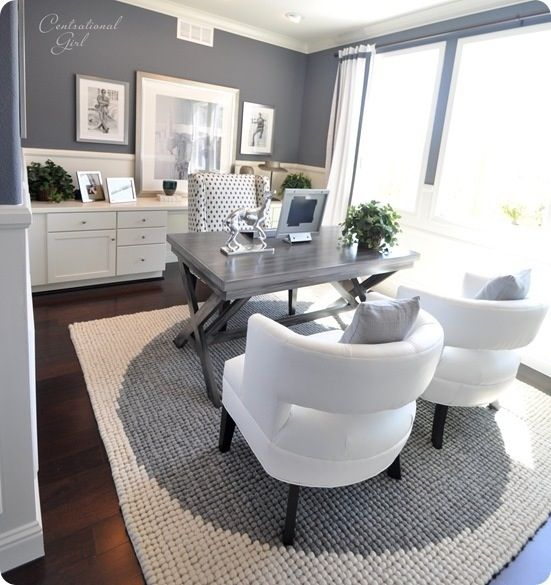 Stunning Home Office Seating I Would Rearrange This As A Home Office And Use The Two White