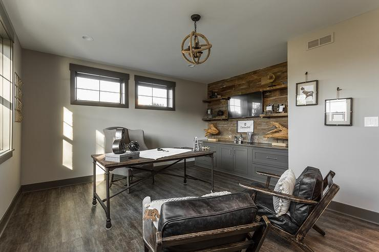 Stunning Home Office Seating Vintage Industrial Home Office With Jute Rope Chandelier Vintage