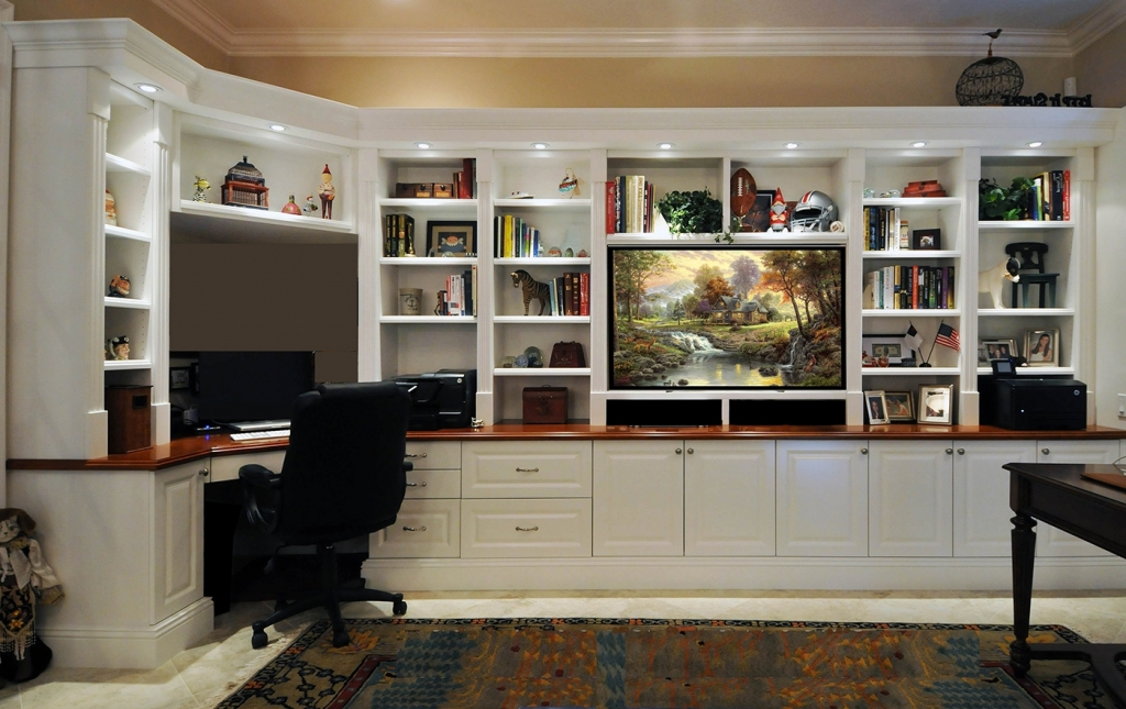 Stunning Home Office Wall Unit Home Design Wall Unit With Space For Electronics Tv Writing Desk