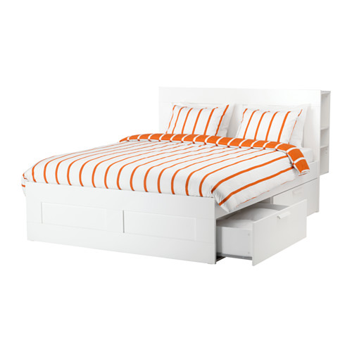 Stunning Ikea Double Bed With Drawers Brimnes Bed Frame W Storage And Headboard Double Ikea