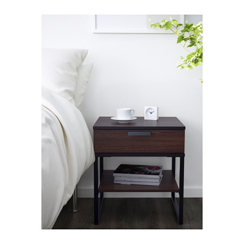 Stunning Ikea End Tables With Drawers Trysil Nightstand Ikea