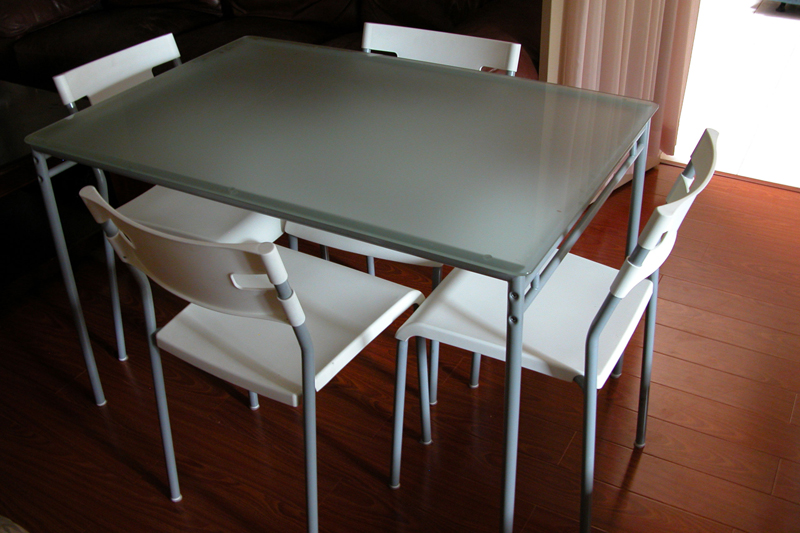 Stunning Ikea Glass Dining Table Set Ikea Kitchen Table And Chairs Home Design And Decorating