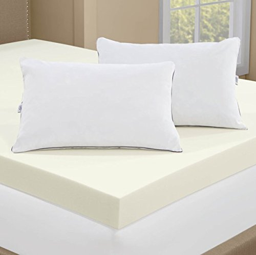 Stunning King Foam Mattress Topper Serta 4 Inch Memory Foam Mattress Topper With 2 Memory Foam Pillows