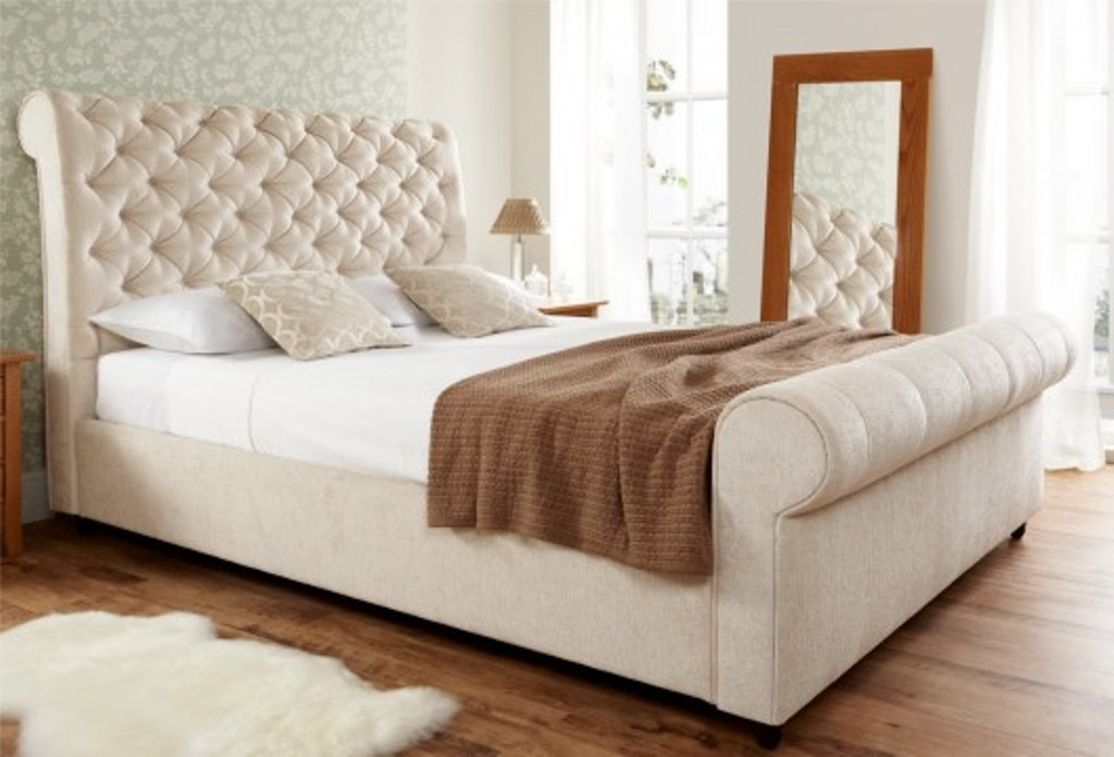 Stunning King Size Sleigh Bed With Mattress Upholstered Sleigh Beds King Size Used Vineyard King Bed Build