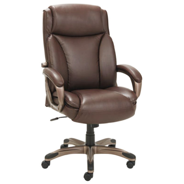 Stunning Leather Executive Chair Alera Alevn4159 Veon Series High Back Brown Leather Executive