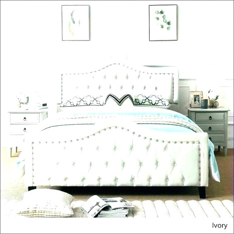 Stunning Leather Headboard Queen Bedroom Set White Tufted Bed Canopyguide