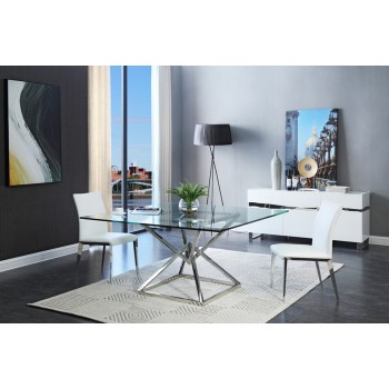 Stunning Modern Glass Dining Room Sets Dining Tables And Chairs Buy Any Modern Contemporary Dining