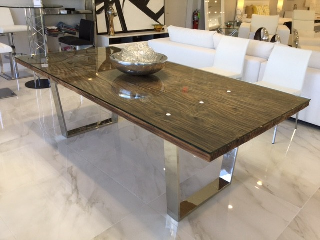 Stunning Modern Rectangular Dining Table Natural Wood Modern Rectangular Dining Table