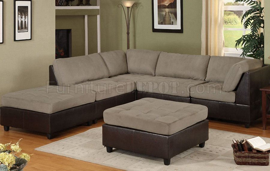 Stunning Modular Sectional Sofa Microfiber Pebble Microfiber Plush Modern Modular 5pc Sectional Sofa